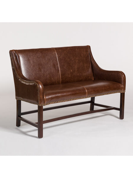 Dorchester Settee - Antique Saddle Leather