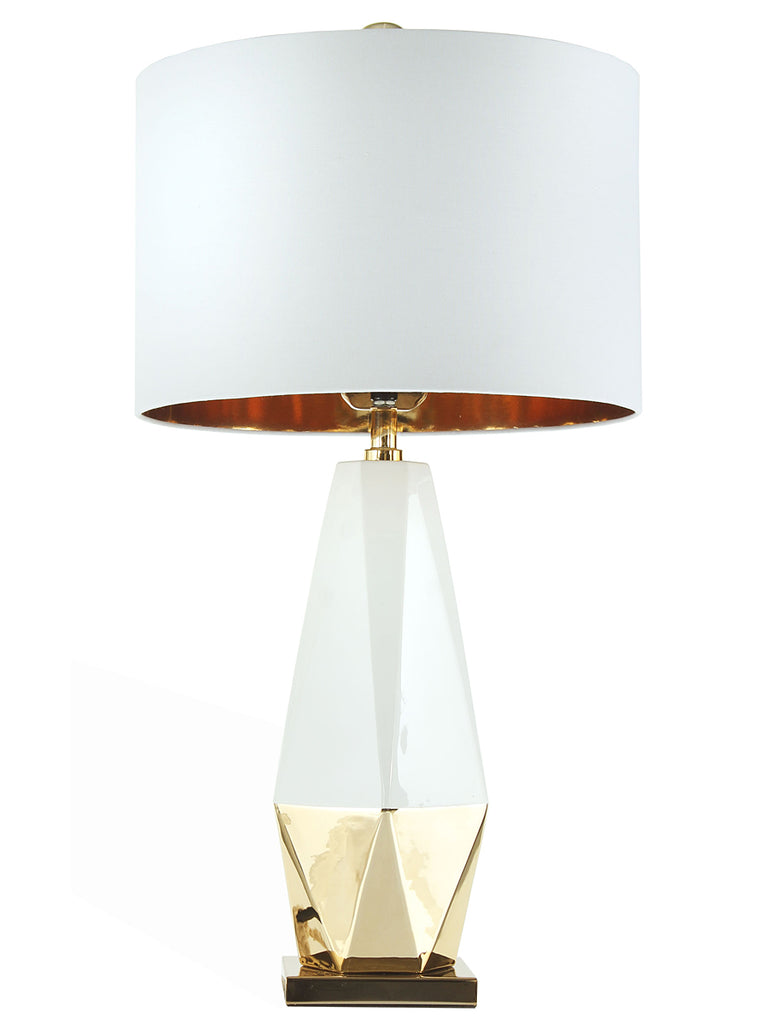 ... White U0026 Gold Table Lamp. $229.99. Darwin 25