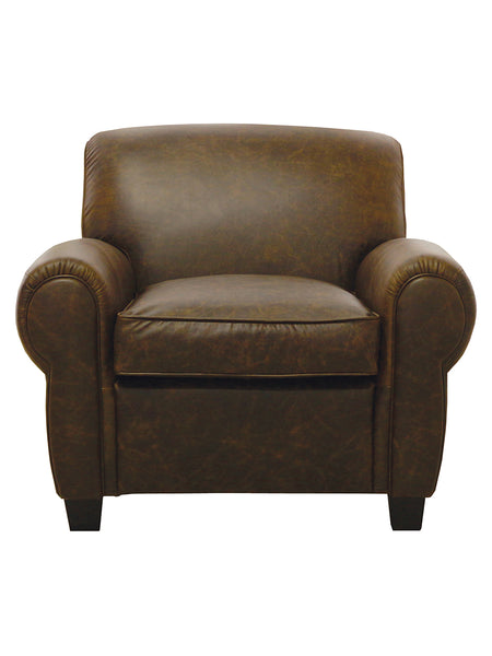 Dexter Italian Leather Chair   Tobacco