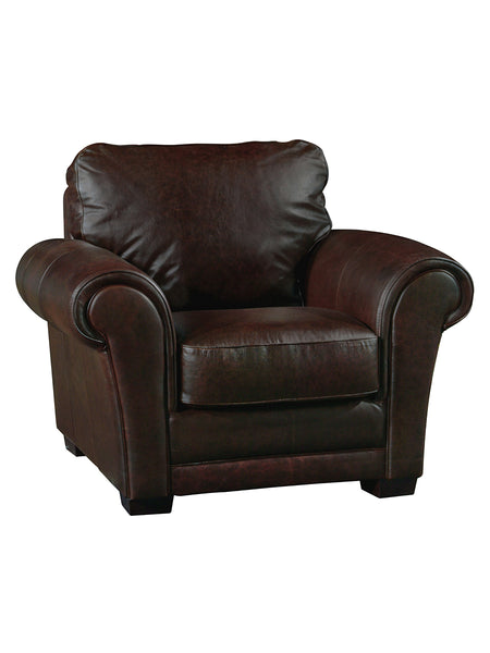 Marcus Italian Leather Chair - Whiskey