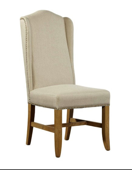 Williamsburg Dining Chair - Oatmeal Linen + Light Oak