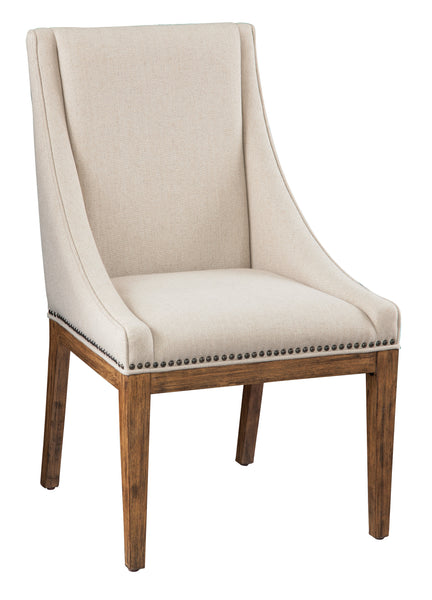Davidson End Dining Chair - Light Linen