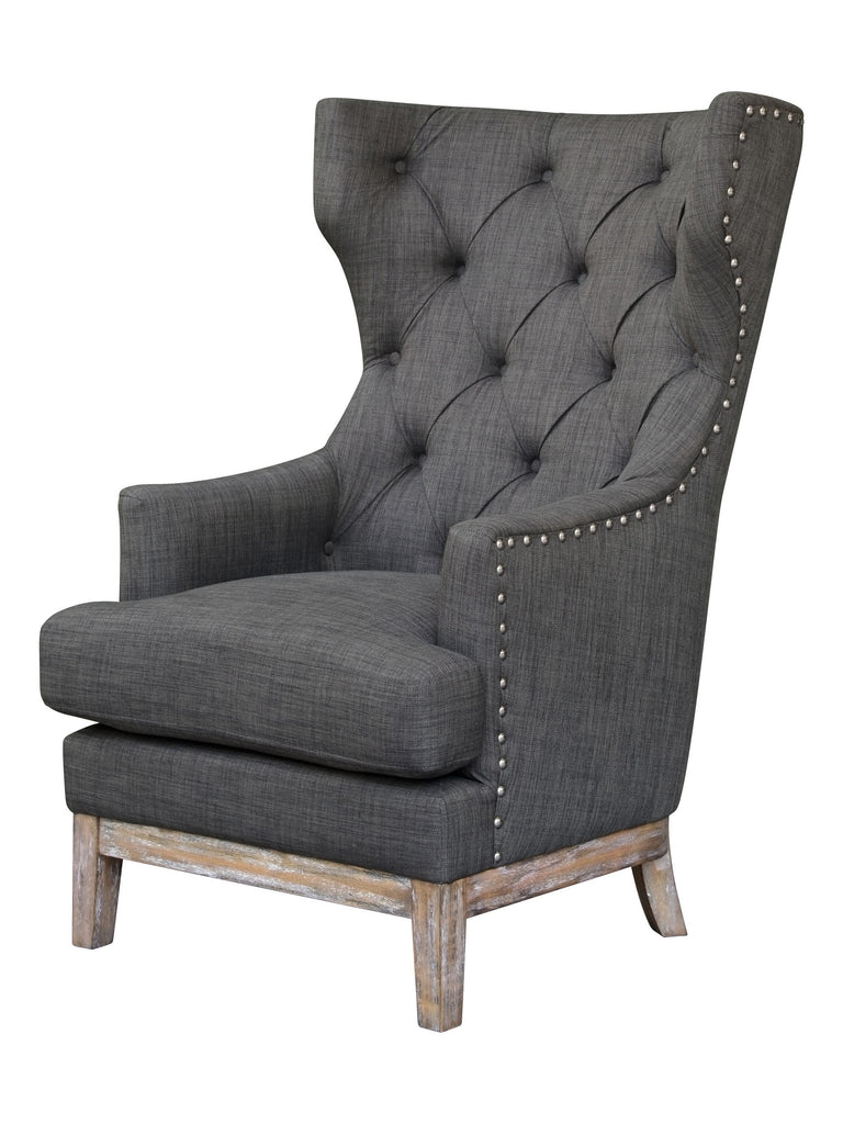Jackson Club Chair - Charcoal Tweed