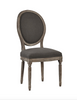 Spenzia Oak Side Chair - Gray Linen