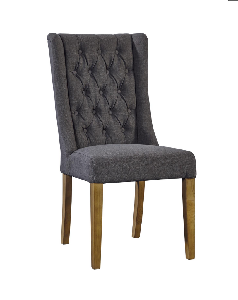 Taft Tufted Linen Side Chair - Gray