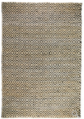 Artemis Area Rug - Bleach/Black