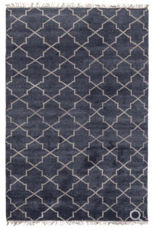 Hand Knotted Terrace Area Rug - Navy