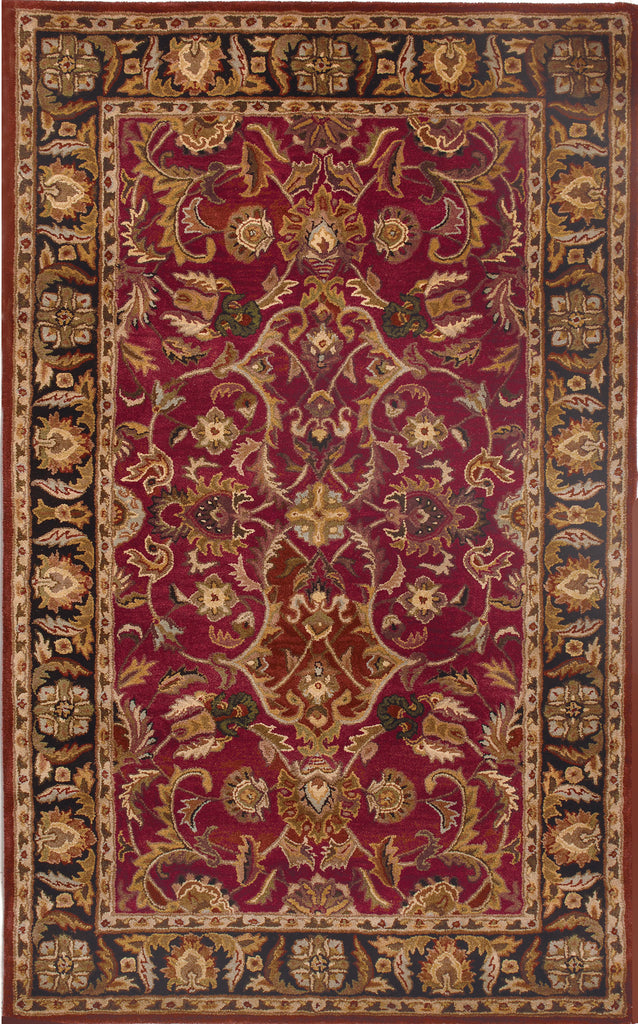 Ashe Area Rug - Red/Black