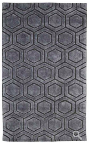 Over Tufted Area Rug - Gray