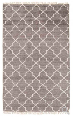 Hand Knotted Terrace Area Rug - Brown