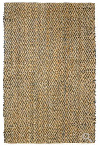 Diamond Area Rug - Slate/Natural
