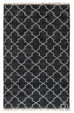 Hand Knotted Terrace Area Rug - Charcoal