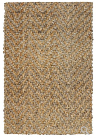 Herringbone Area Rug - Natural/Gray