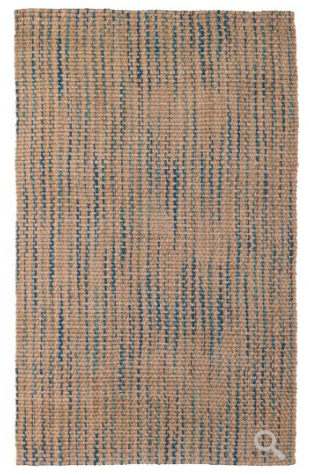 Ladera Stripe Area Rug - Navy/Turquoise
