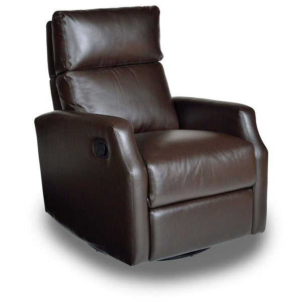 Sydney Leather Swivel Glider Recliner - Mocha
