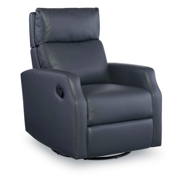 Sydney Leather Swivel Glider Recliner - Slate