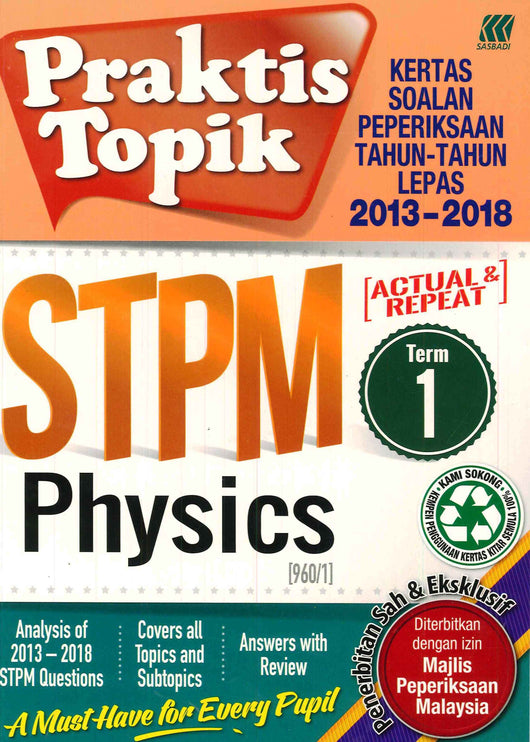 Praktis Topik  STPM (Physics) Term 1