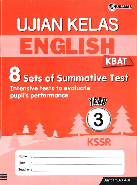 Ujian Kelas (English) Year 3
