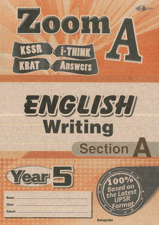 Zoom A (English) (Writing- Section A) Year 5