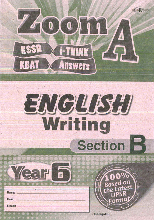 Zoom A (English) (Writing- Section B) Year 6