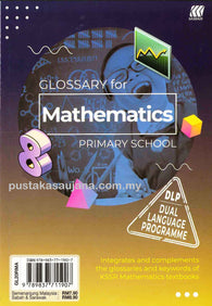 Glossary For (Mathematics) Primary School (Dual Language Programme