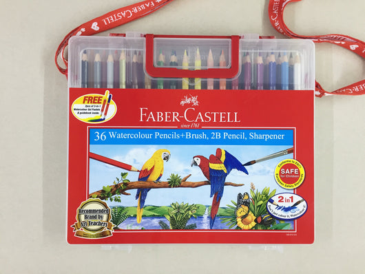 Watercolour pencils in wonder box