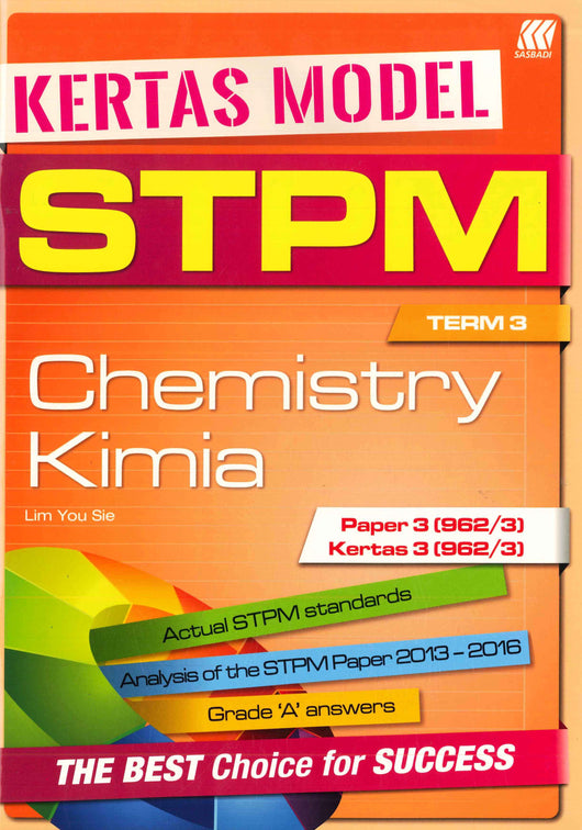 Kertas Model STPM (Chemistry/ Kimia) Term 3