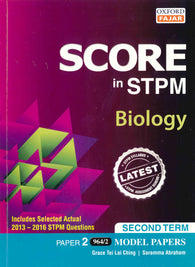 Score in STPM Model Papers (Biology - Paper 2) Second Term