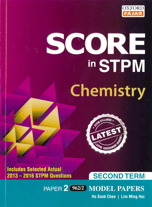 Score in STPM Model Papers (Chemistry - Paper 2) Second Term