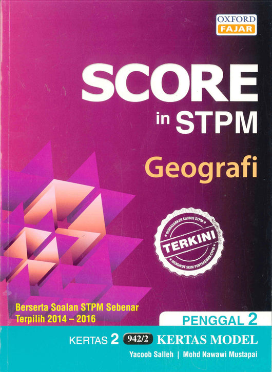Score in STPM Kertas Model (Geografi - Kertas 2) Penggal 2