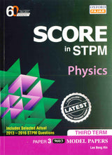 Score in STPM Model Papers (Physics - Paper 3) Third Term