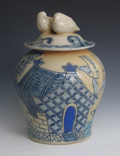 Blue Willow Jar