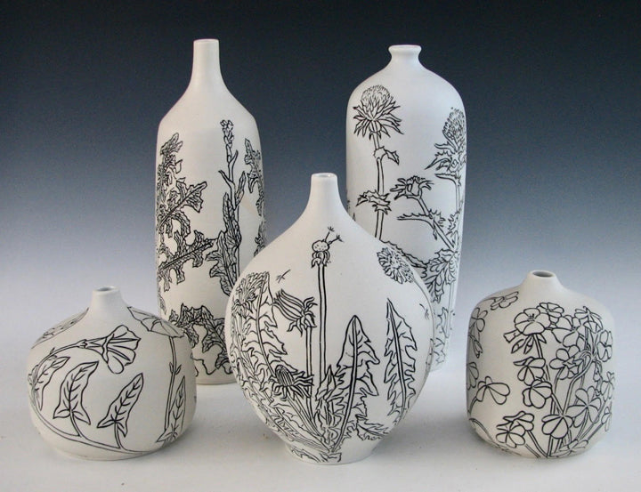 Polished Porcelain Weed Vases