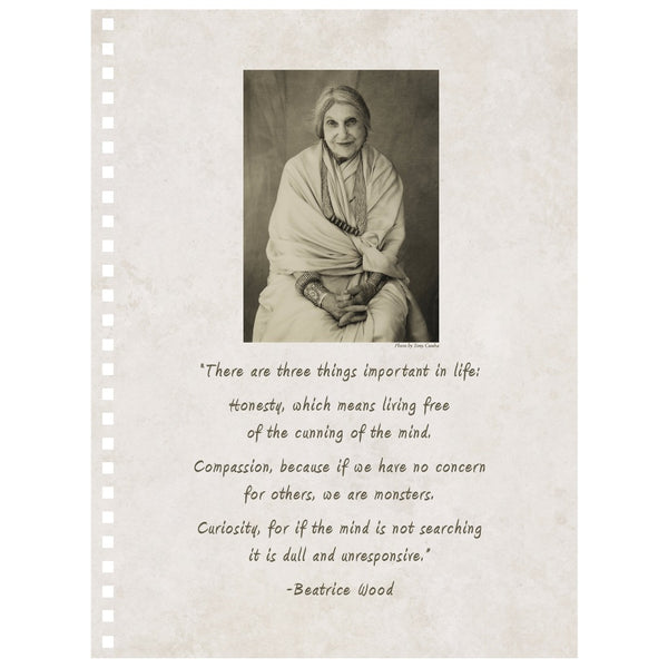 Beatrice Wood with Quote Spiral Notebook