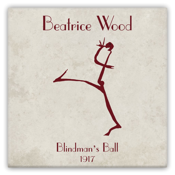 Beatrice Wood Blindman's Ball Metal Magnets