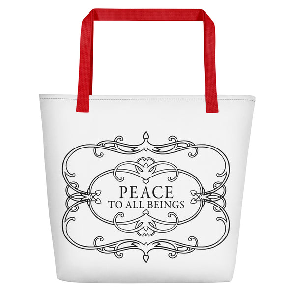 Peace to all Beings Beach Bag