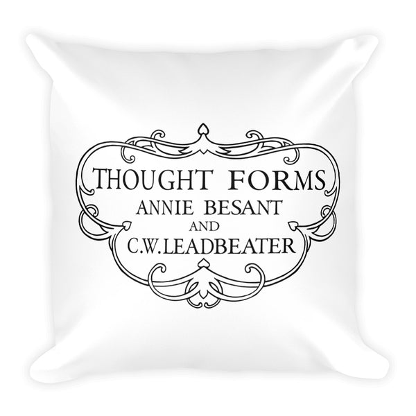 Thought Forms Cartouche Square Pillow