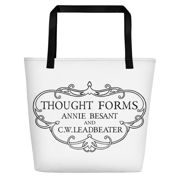 Thought Forms Cartouche Beach Bag