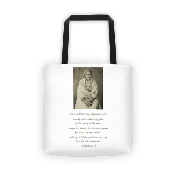 Beatrice Wood with Quote Tote bag