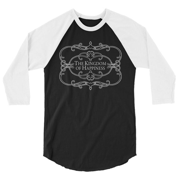 The Kingdom of Happiness 3/4 sleeve raglan shirt