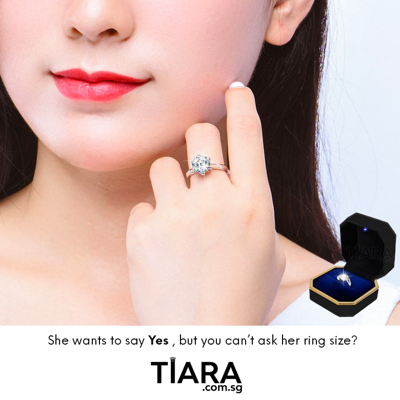 Tiara Rings Adjustable Engagement Rings without knowing Ring size
