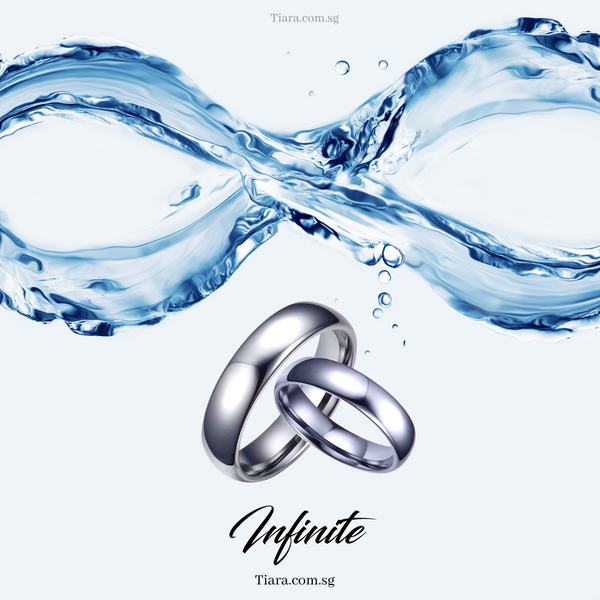 Couple rings Singapore Infinite Wedding rings wedding bands Infinite Tiara Singapore.png