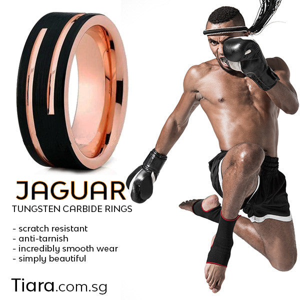 Jaguar Ring Tungsten Carbide Rings for Men Tiara.com.sg Singapore Rings for men