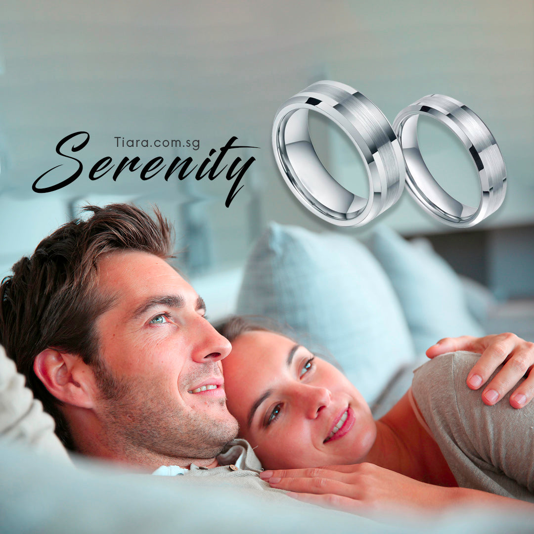 Serenity Couple Rings TIara Wedding Rings