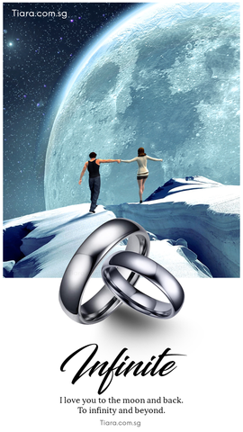 Tiara Infinite Infinity Tungsten Couple Rings Wedding Bands Wedding Rings Singapore