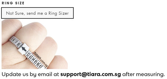 Tiara Ring Sizer Measurement
