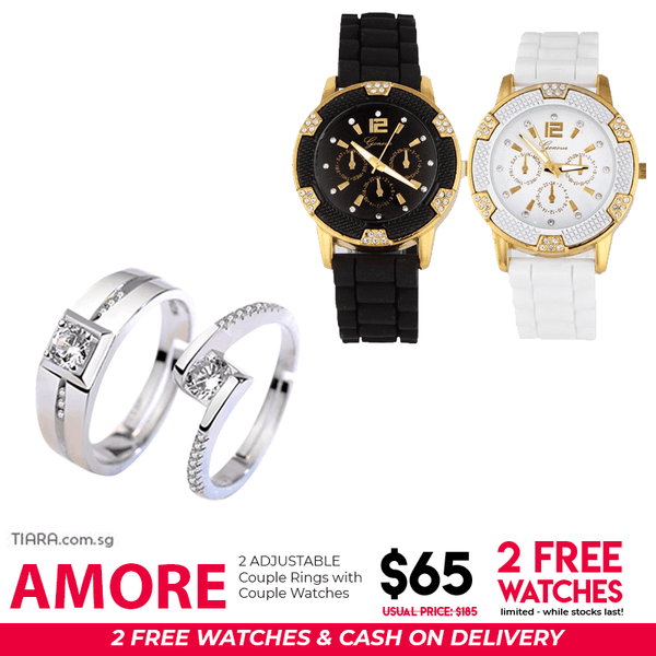 Amore Couple Ring & Watch Set