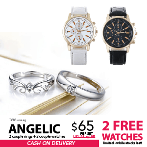 Angelic Couple Rings & Watch Set