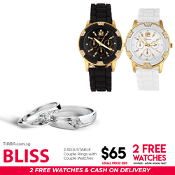 Bliss Couple Ring & Watch Set