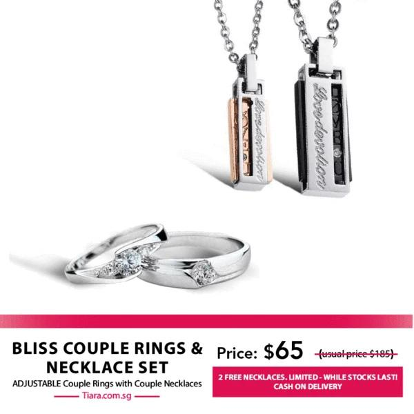Bliss Couple Rings & Necklaces Set